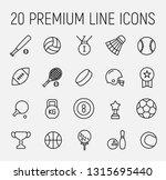 premium set of sport line icons.... | Shutterstock .eps vector #1315695440