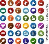 color back flat icon set   leaf ... | Shutterstock .eps vector #1315703789