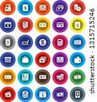 white solid icon set  credit... | Shutterstock .eps vector #1315715246