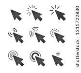 dark grey mouse cursor icon set ... | Shutterstock .eps vector #1315722830