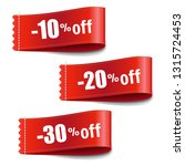 sale tags set with gradient... | Shutterstock .eps vector #1315724453