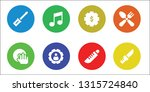 setting icon set. 8 filled... | Shutterstock .eps vector #1315724840