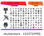 season icon set. 120 filled... | Shutterstock .eps vector #1315724900