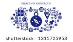direction icon set. 93 filled... | Shutterstock .eps vector #1315725953