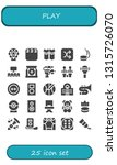 play icon set. 25 filled play... | Shutterstock .eps vector #1315726070