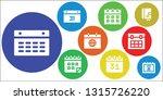 agenda icon set. 9 filled... | Shutterstock .eps vector #1315726220