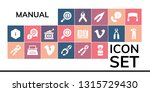 manual icon set. 19 filled... | Shutterstock .eps vector #1315729430