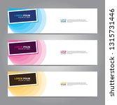 vector abstract web banner... | Shutterstock .eps vector #1315731446