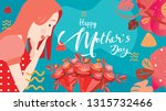 happy mother's day  close up... | Shutterstock .eps vector #1315732466