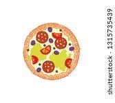 pizza. food cartoon. isolated... | Shutterstock .eps vector #1315735439