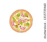 pizza. food cartoon. isolated... | Shutterstock .eps vector #1315735460