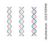 chemistry code dna. double... | Shutterstock .eps vector #1315735940