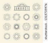 vintage sunburst. hand drawn... | Shutterstock .eps vector #1315735976
