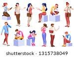smartphone set of telephone... | Shutterstock .eps vector #1315738049