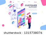 flat cyborg idea  interactive... | Shutterstock .eps vector #1315738076