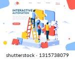 flat cyborg idea  interactive... | Shutterstock .eps vector #1315738079