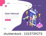 user manual  isometric concept. ...   Shutterstock .eps vector #1315739273
