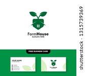 farm house logo  vector logo... | Shutterstock .eps vector #1315739369