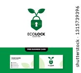 eco lock logo vector logo... | Shutterstock .eps vector #1315739396
