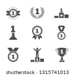 icons with number one  champion ... | Shutterstock .eps vector #1315741013