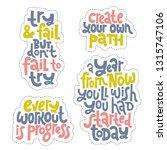 sticker set design template... | Shutterstock .eps vector #1315747106