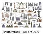 icon architectural monuments... | Shutterstock .eps vector #1315750079