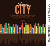 book in library illustration... | Shutterstock .eps vector #1315751120