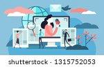 news vector illustration. flat... | Shutterstock .eps vector #1315752053