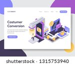 landing page template of... | Shutterstock .eps vector #1315753940