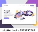 landing page template of... | Shutterstock .eps vector #1315753943