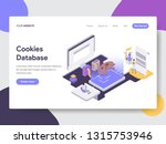 landing page template of... | Shutterstock .eps vector #1315753946