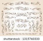 set of decorative elements.... | Shutterstock .eps vector #1315760333