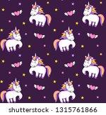 magic unicorns and flying... | Shutterstock .eps vector #1315761866