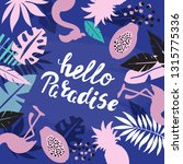 template card with tropical... | Shutterstock .eps vector #1315775336