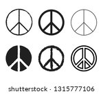 set of round peace sign.... | Shutterstock .eps vector #1315777106