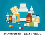 pharmaceutical illustration of... | Shutterstock .eps vector #1315778039