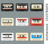 old audio cassettes gray... | Shutterstock .eps vector #1315782653