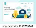 banking security system  save... | Shutterstock .eps vector #1315783949