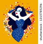 poster for pop art style party... | Shutterstock .eps vector #1315785296