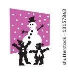 snowman | Shutterstock .eps vector #13157863