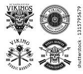 viking or norse warriors set of ... | Shutterstock .eps vector #1315795679