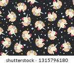 hand drawn seamless vector... | Shutterstock .eps vector #1315796180