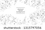 vector abstract boxes... | Shutterstock .eps vector #1315797056