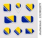 bosnia and herzegovina flag... | Shutterstock .eps vector #1315802879