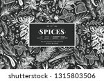 culinary herbs and spices... | Shutterstock .eps vector #1315803506