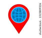 location icon   map pin... | Shutterstock .eps vector #1315809326