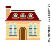 house icon   vector real estate ... | Shutterstock .eps vector #1315809419