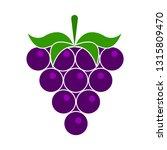 vector grapes. grapes icon ...   Shutterstock .eps vector #1315809470