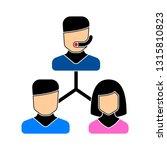call center. support service. ... | Shutterstock .eps vector #1315810823