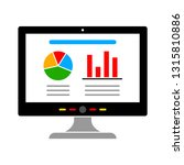 vector computer charts icon... | Shutterstock .eps vector #1315810886